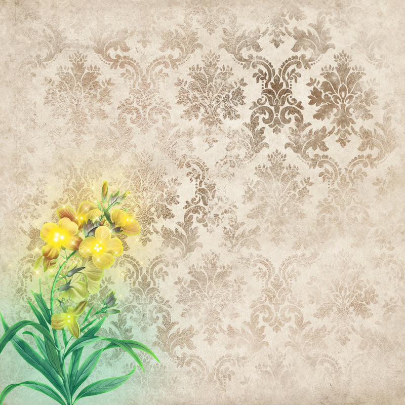 Magic Flower Backgrounds Paper Pad (size options available)
