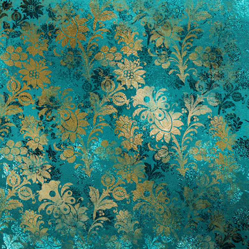 Distressed Gold and Teal Paper Pad (size options available)