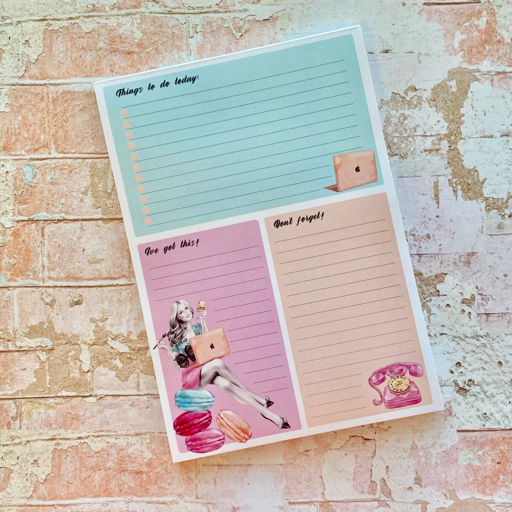 NEW! Stationery - Girl Boss ToDo - A5 Notepad