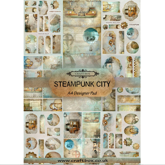 Preorder: Steampunk City A4 Designer Paper Pad