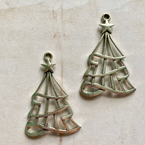 Itsy Bitsy - Silver Christmas Tree Charms