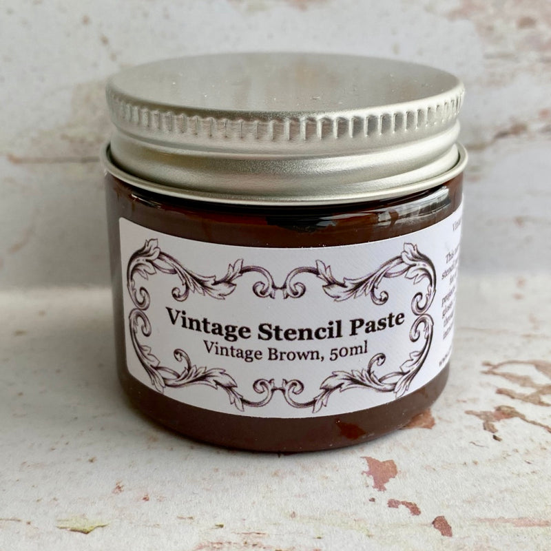 Limited Edition Stencil Paste - Vintage Brown (non-shimmery)