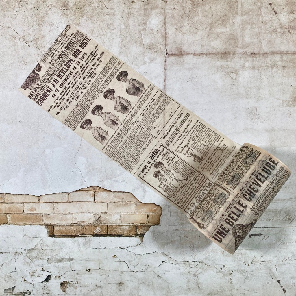 French Newspaper Washi Tape