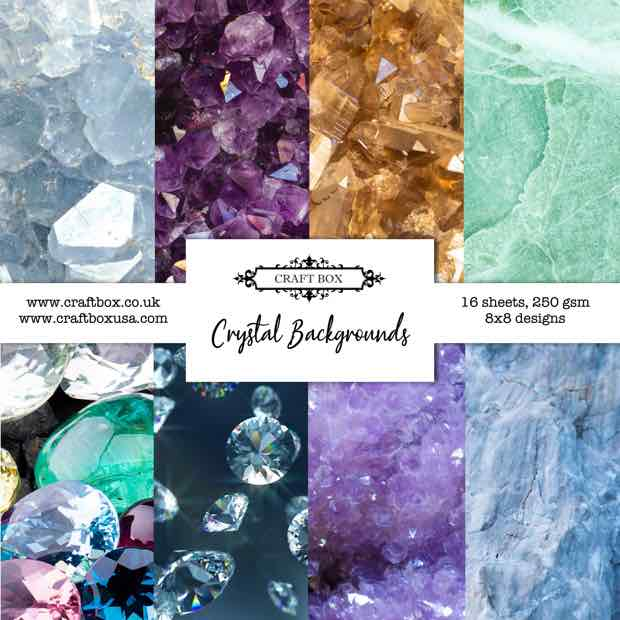 Crystal Backgrounds Mixed Media Pad 8x8