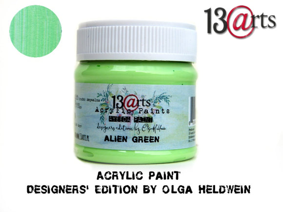 13Arts Acrylic Paint - Alien Green (UK stock)