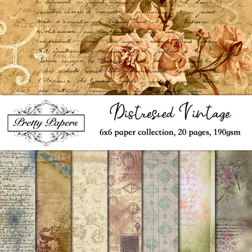 Distressed Vintage Paper Pad (size options available)