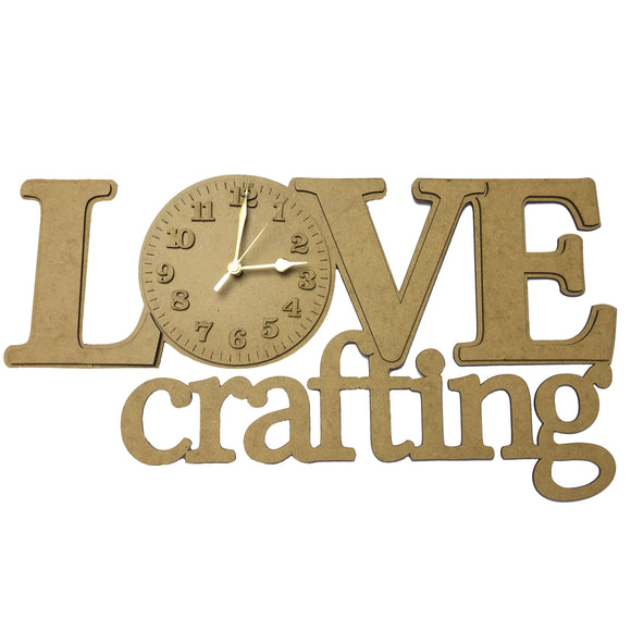 Preorder: LOVE Crafting working Clock MDF (XXL)