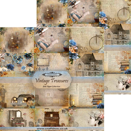 Vintage Treasures 6x6 Paper Pad DUO PACK