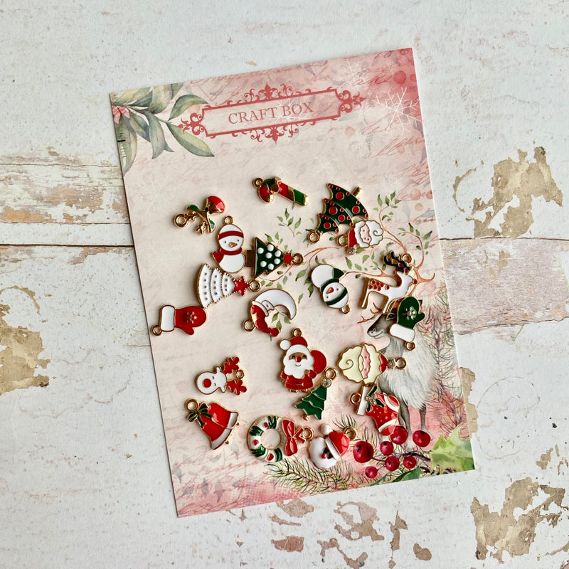 Enamel Christmas Charms - November Craft Box