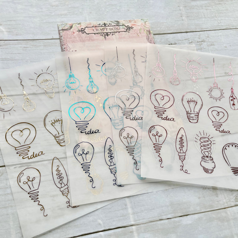Light Bulbs Foiled Vellum