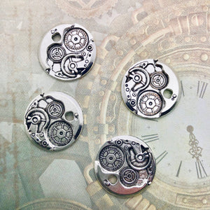 Steampunk City - Round Mechanism Charms