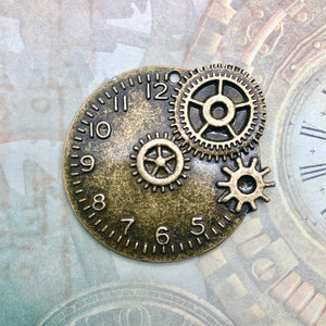 Steampunk City - Clock and Cog (Brass)