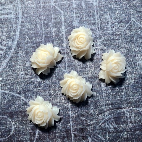 Angel Collection - Ivory Resin Flowers