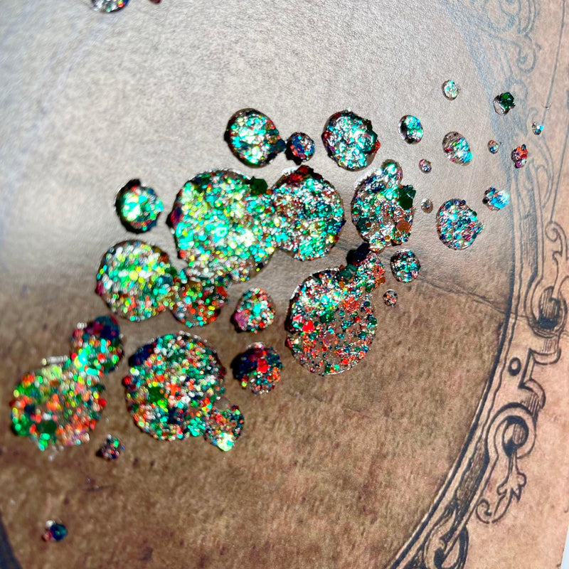 Galaxy Mixed Media Souffle - Emerald Constellation