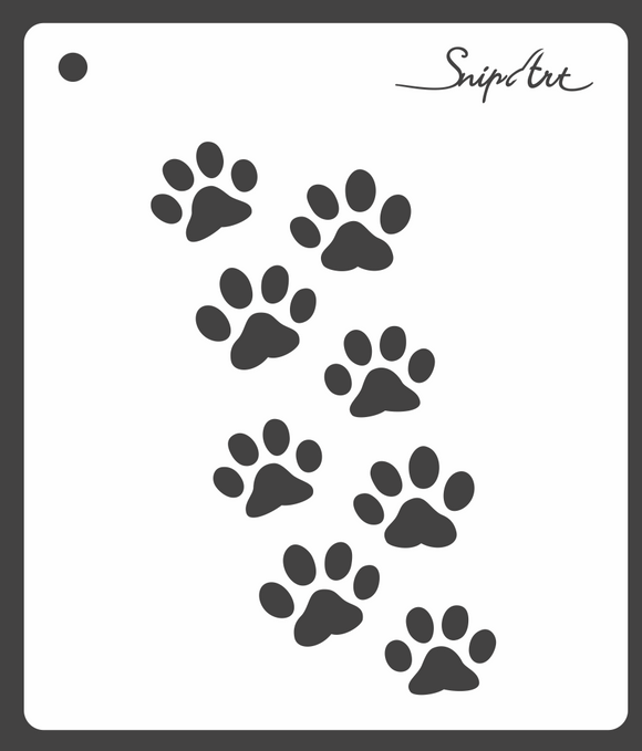 SnipArt Stencil - Meow Collection - Cat Trail