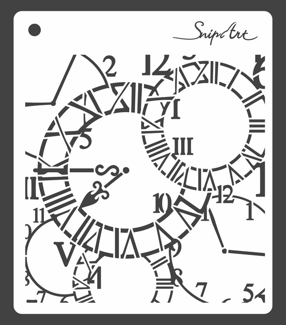 SnipArt Stencil - Clock Background