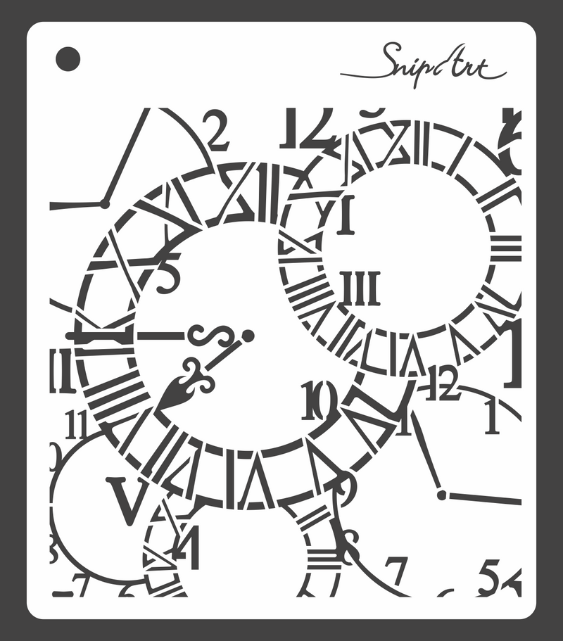 SnipArt Stencil: Clock Background