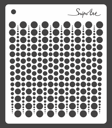 SnipArt Stencil - Dot Strings 1