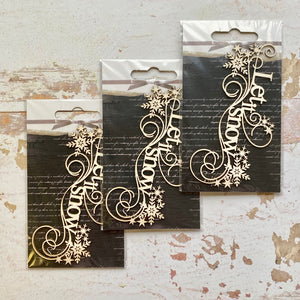 SnipArt Chipboard Set - Let it Snow x3