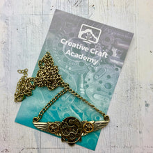 Load image into Gallery viewer, Double Wing Steampunk CCA Charm