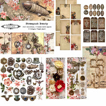 Load image into Gallery viewer, Steampunk Beauty Scrapbooking Kit