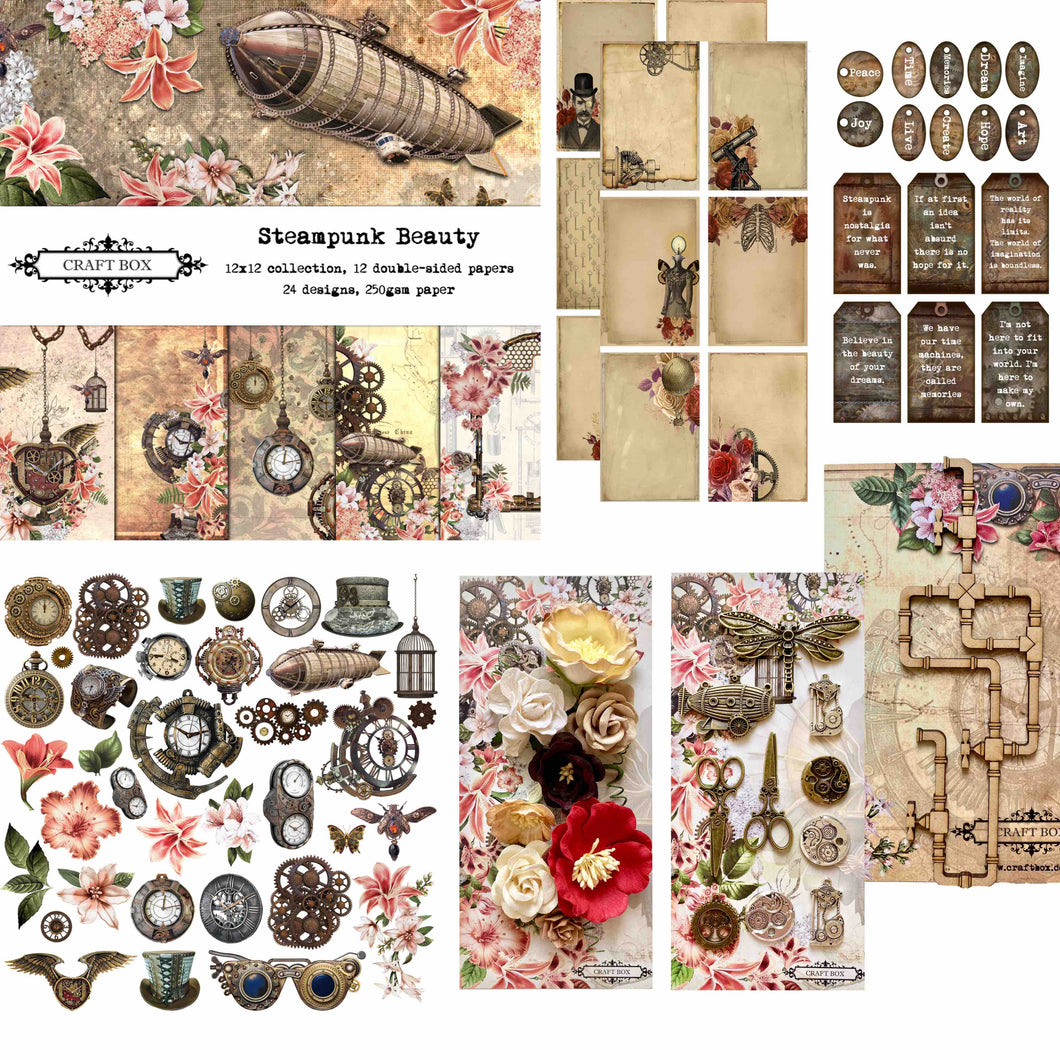 Steampunk Beauty Scrapbooking Kit