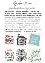 Load image into Gallery viewer, Come Home by Anna Hersom - Vinyl Word Stickers