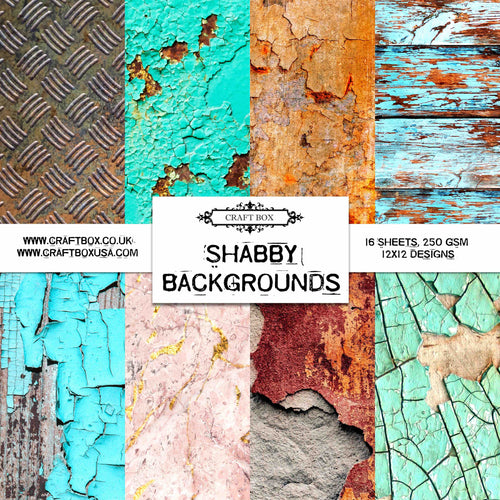 Shabby Backgrounds Mixed Media Pad