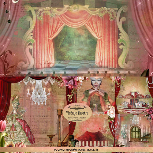 Vintage Theatre 12x12 Limited Edition Paper Collection DUO PACK