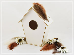 SnipArt - Bird House (20cm Requires assembly)