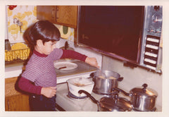 Me cooking when I was about 3 years old