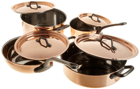 Matfer Bourgeat - BOURGEAT COPPER COOKWARE SET - 8 pcs. - 1