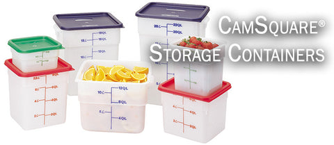 CamSquare Food Storage Containers Translucent w Cover The