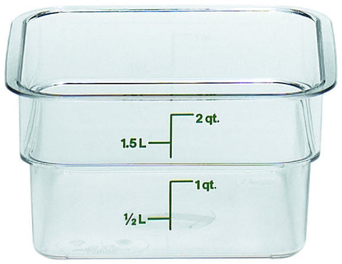 Camwear Polycarbonate CamSquare Food Storage Containers (CLEAR)