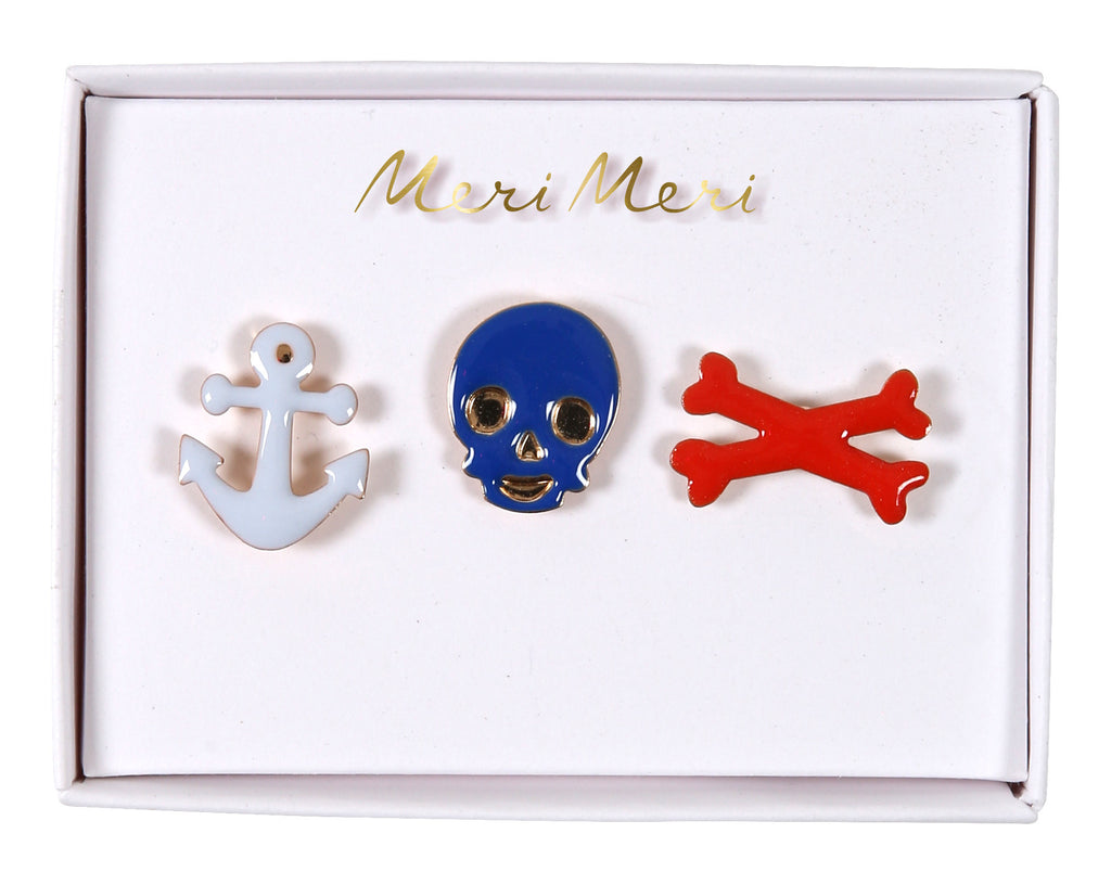 Pirate enamel Pins