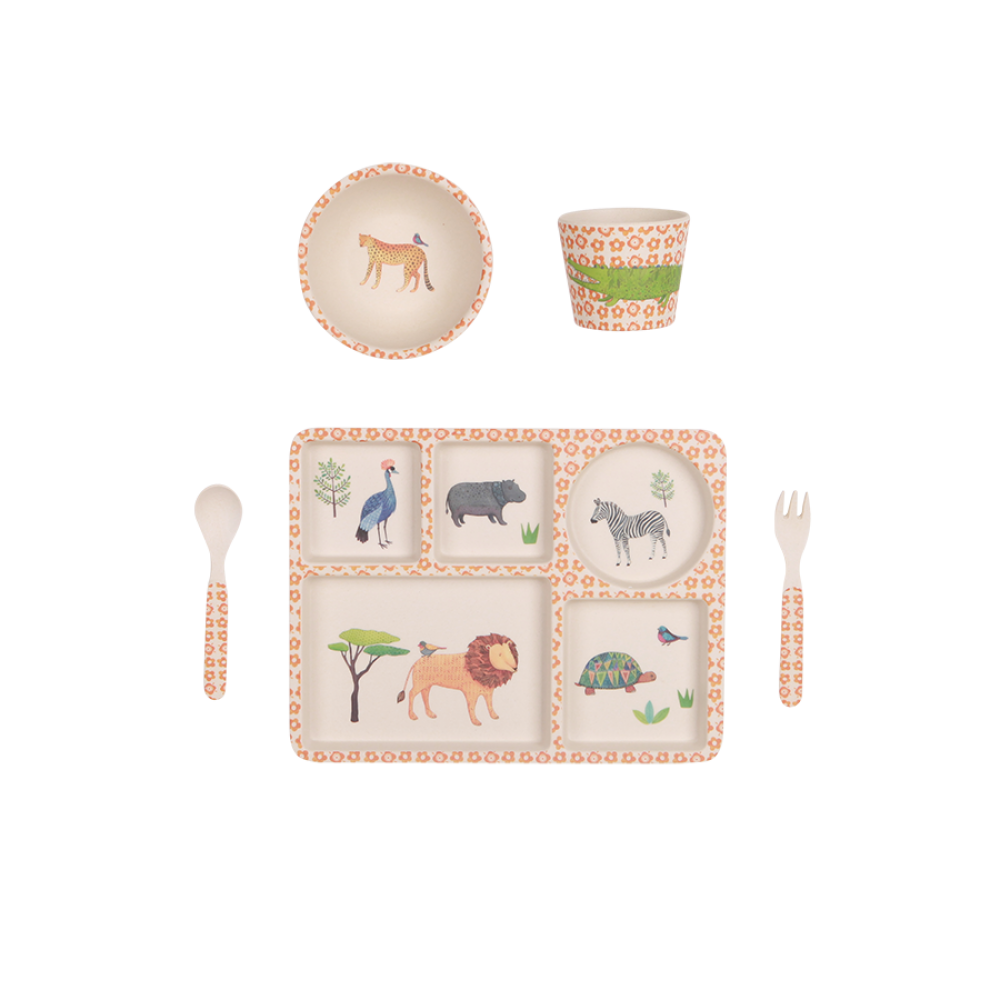 Safari bamboo dinnerware