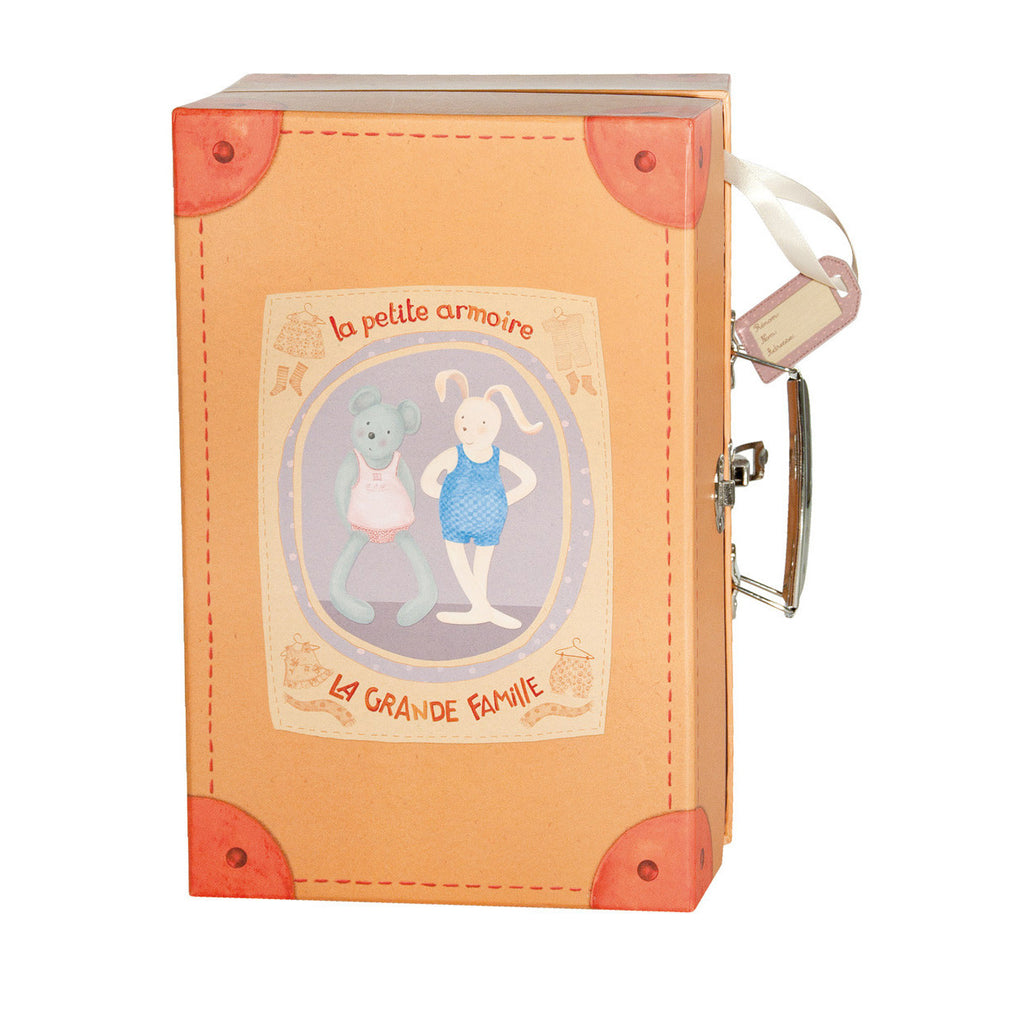 The bunny and mouse little wardrobe suitcase