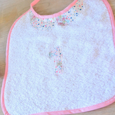 Towelling bib 1year