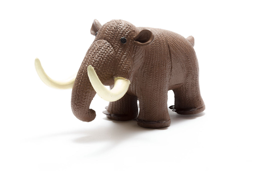 My First Mammoth Natural Rubber Toy, brown