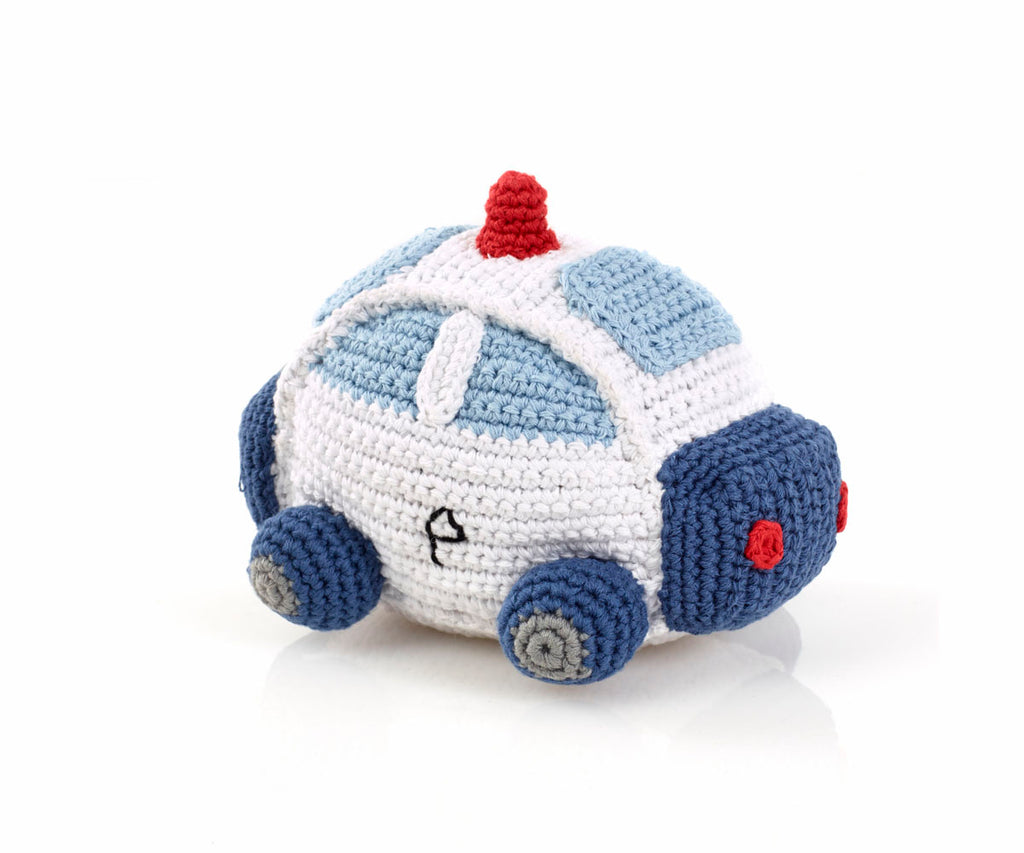 Fair Trade Crochet Cotton Police Car Toy