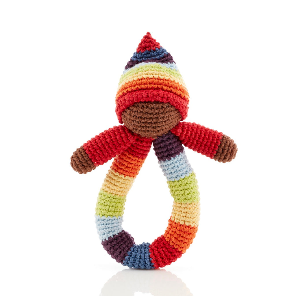 Pixie ring rattle rainbow