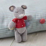 Crochet Mable mouse rattle
