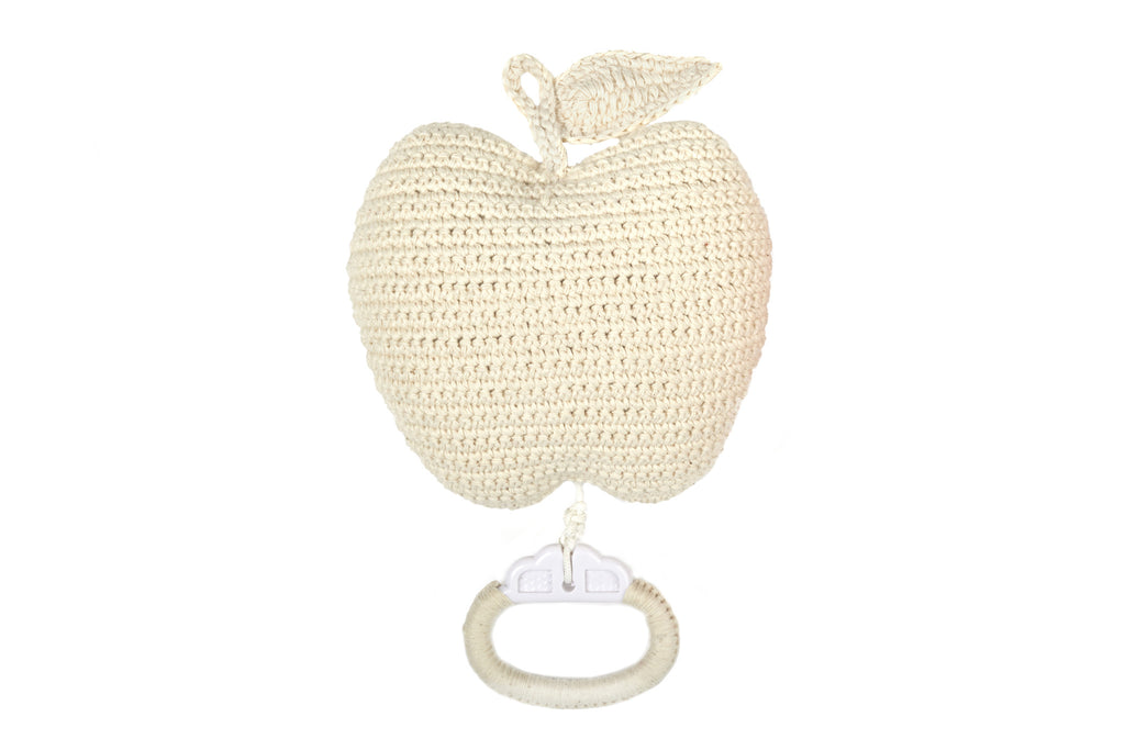 Apple crochet musicbox