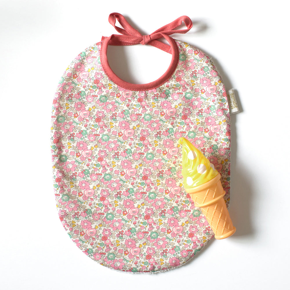 Betty liberty fabric bib