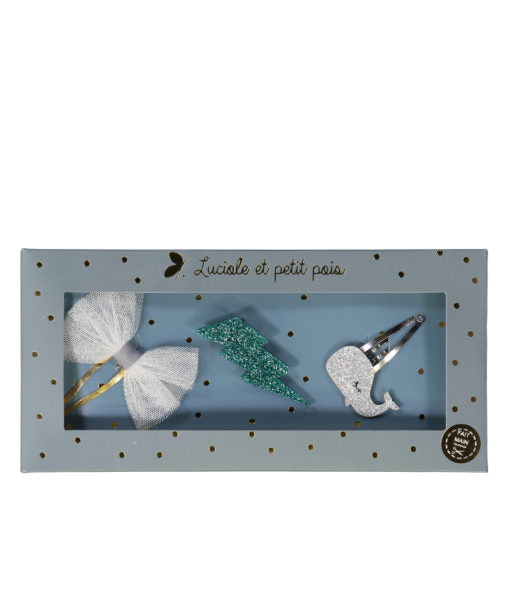 Hair clips and brooches gift sets