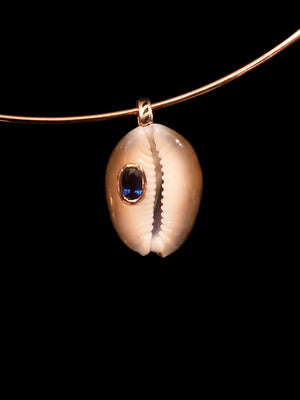 Cowry with Kyanite Charm