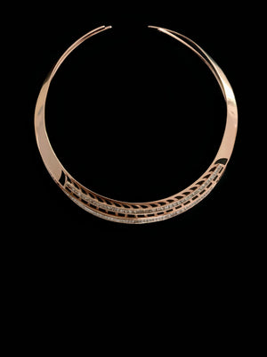 Deco Petite Diamond Cuff Necklace
