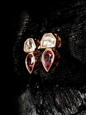 Deco Jali Diamond Earrings with Malaya