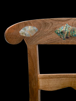 Dezso Inlay Shells Wood Chair