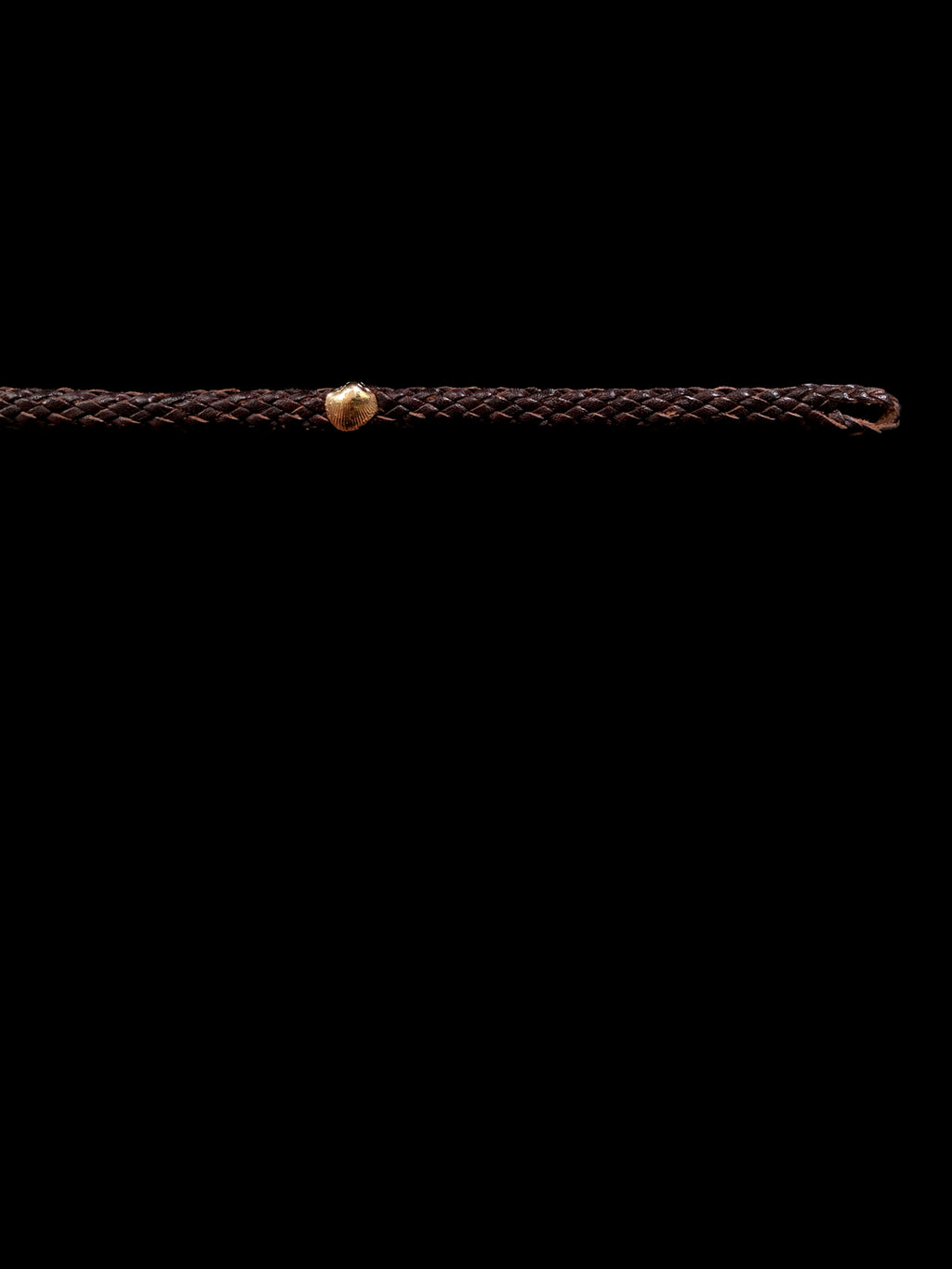 Petite Gold Anadara Leather Bracelet